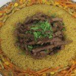 شاورما اللحم مع خضار