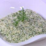 طريقة عمل أرز أبيض بالشبت