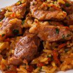 طريقة عمل الأرز باللحم والجزر